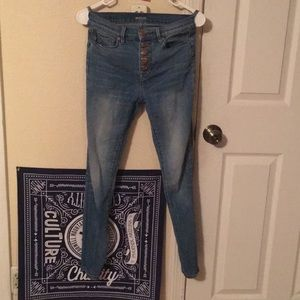 RARE BDG High Rise Pinup Button Fly Skinny Jean 25